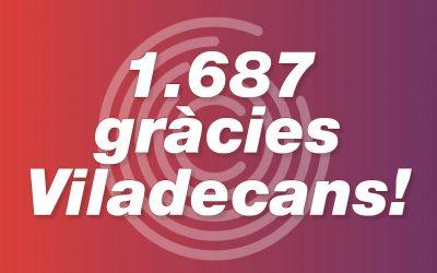 1.687 gràcies, Viladecans!